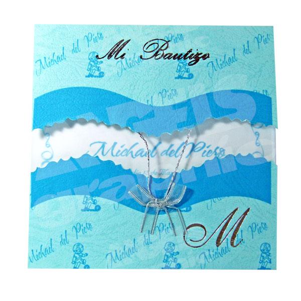 Tarjeta De Invitación Para Bautizo Bz 46501 Angels Graphic