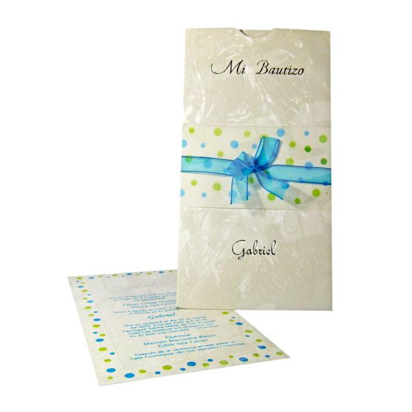 Tarjeta De Invitación Para Bautizo Bz 46502 Angels Graphic