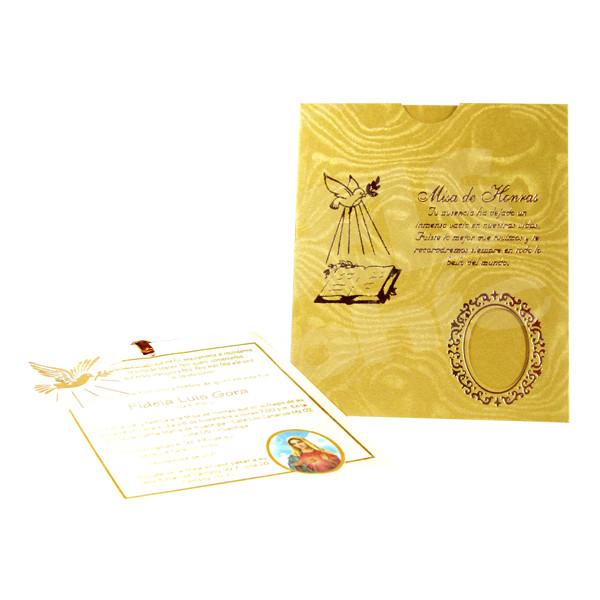 Tarjeta De Invitación De Defunción Hr 56781 Angels Graphic