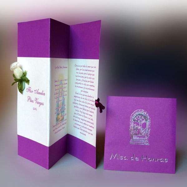 Tarjeta de Invitación de Defunción (hr-56815) - Angels Graphic