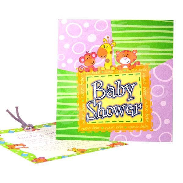 Tarjeta De Invitación Para Baby Shower Bs 380 Angels Graphic