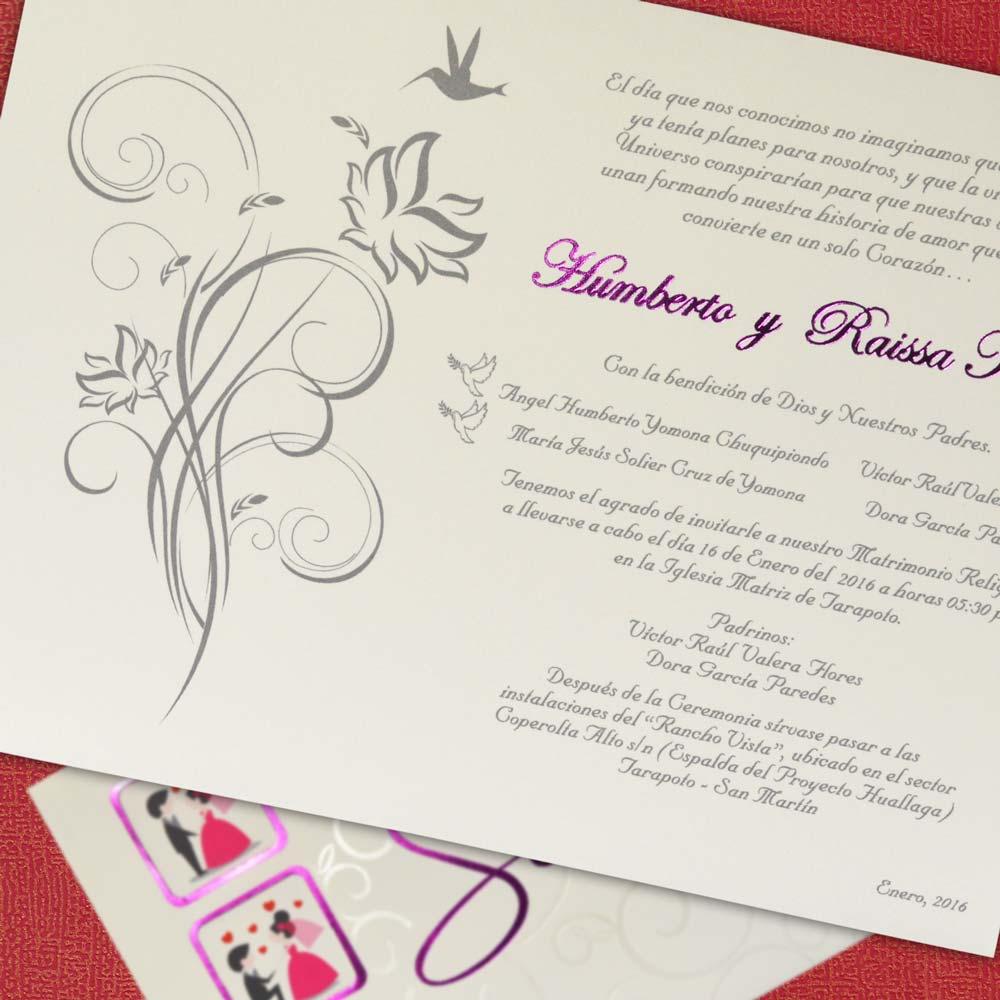 Partes De Matrimonio Mt 50538 Imprenta Lima Tarjetas