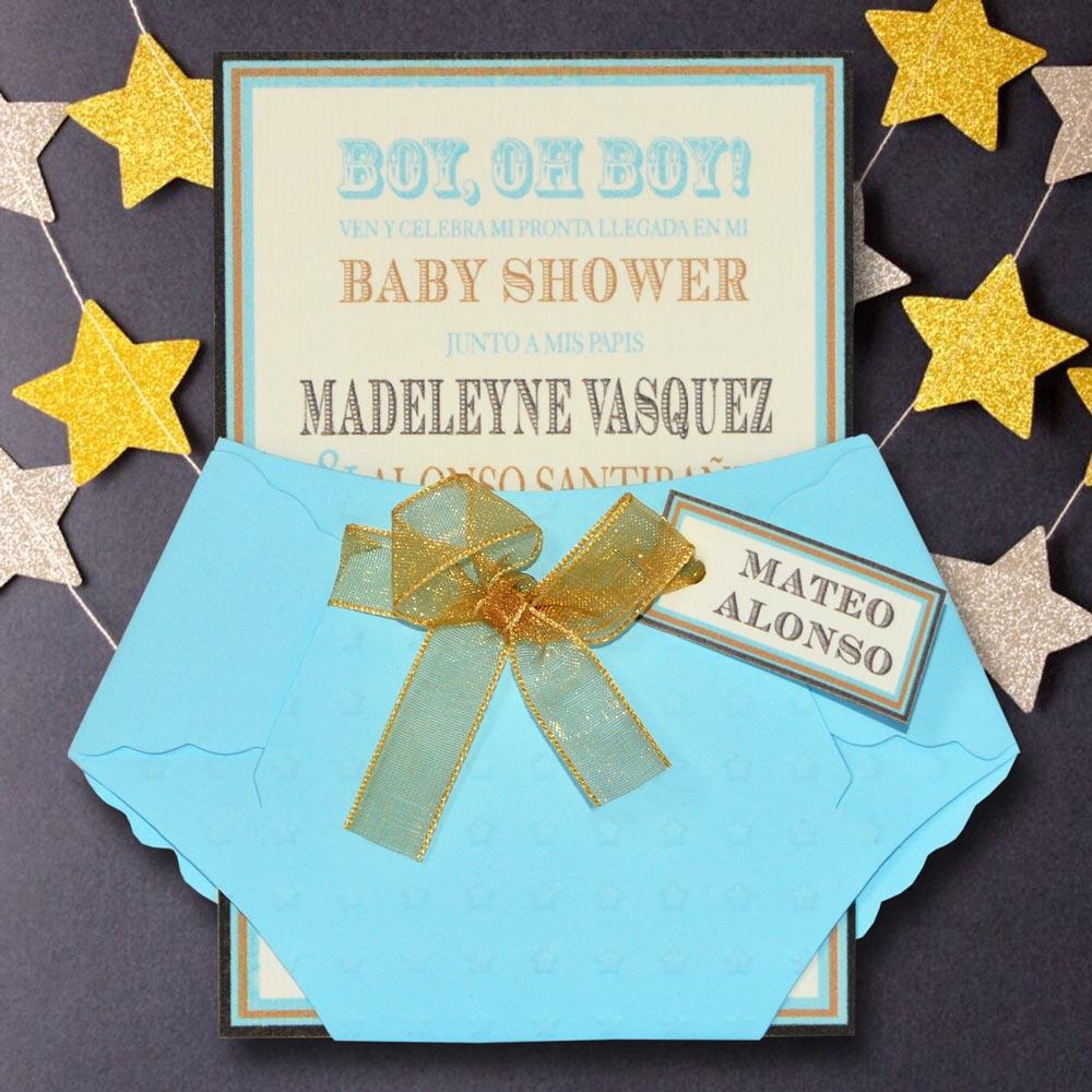 Tarjeta De Invitación Para Baby Shower Bs 381 Angels Graphic