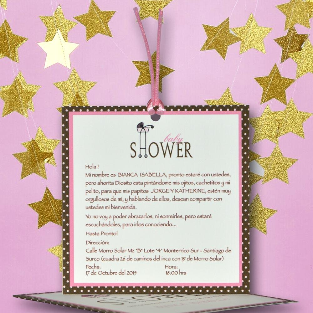 Tarjeta De Invitación Para Baby Shower Bs 382 Angels Graphic