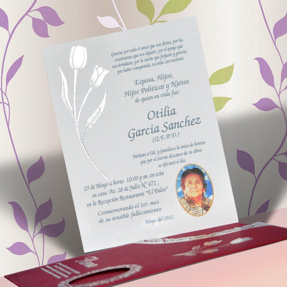 Invitación Para Misa De Honras Hr 56853 Angels Graphic