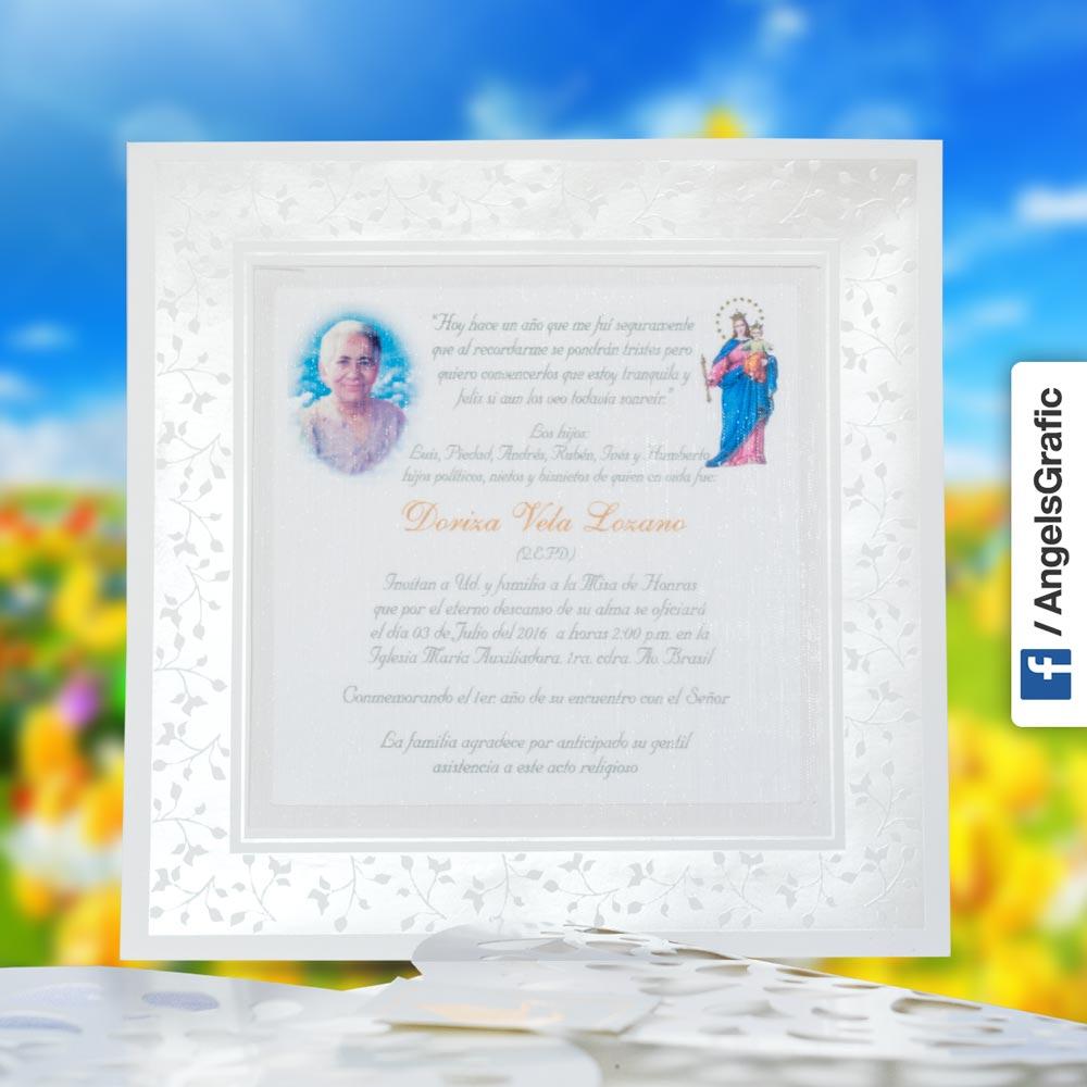 Invitación Para Misa De Honras Hr 56856 Angels Graphic