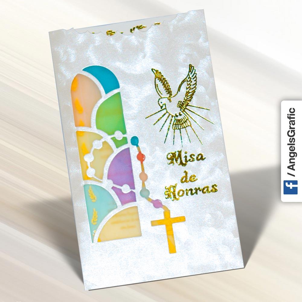 Invitación Para Misa De Honras Hr 56857 Angels Graphic