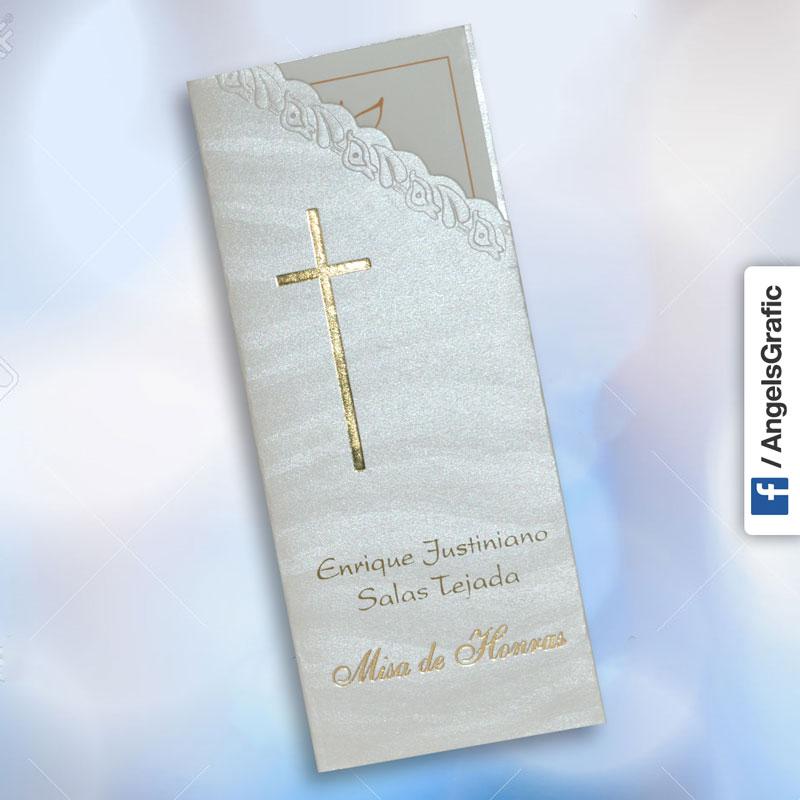 Invitación Para Misa De Honras Hr 56860 Angels Graphic