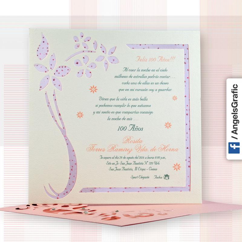 Tarjeta De Invitación Para Cumpleaños To 203 Angels Graphic