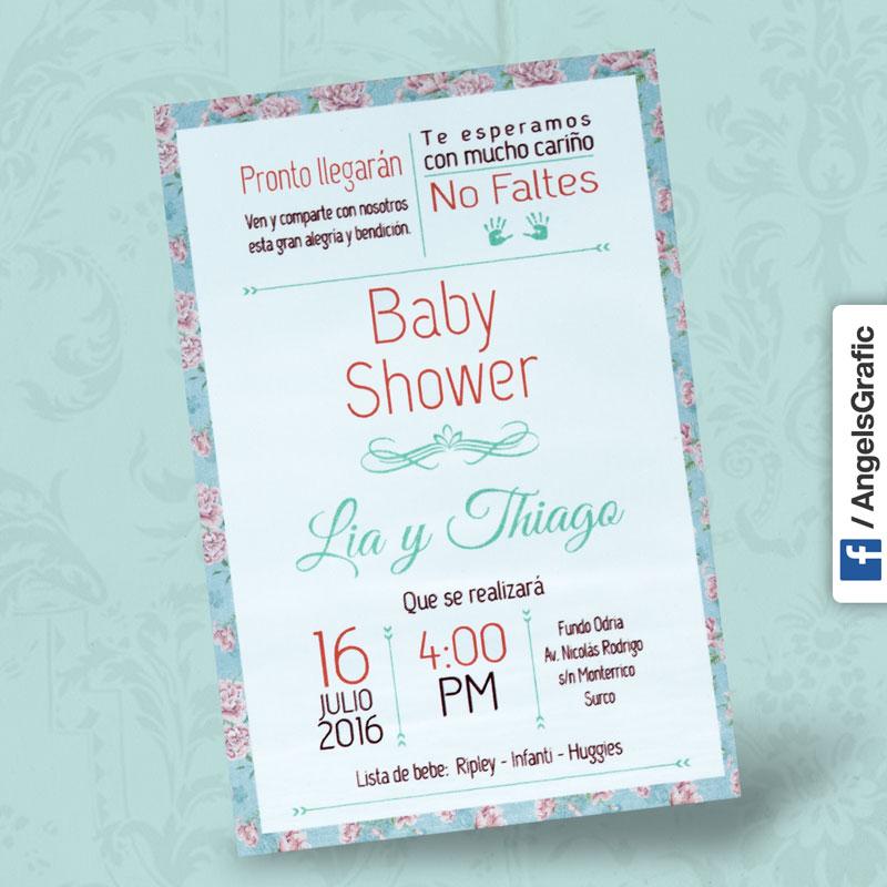 ... Tarjeta De Baby Shower Angels Graphic