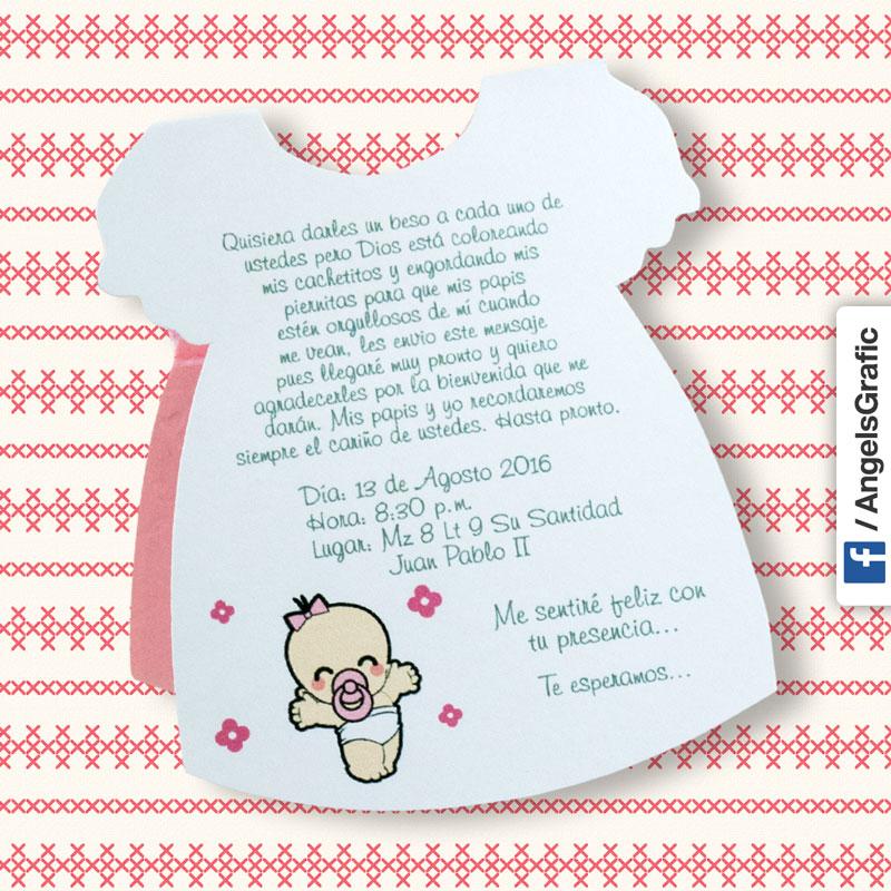 Tarjeta De Invitacin Para Baby Shower Bs 402 Angels Graphic