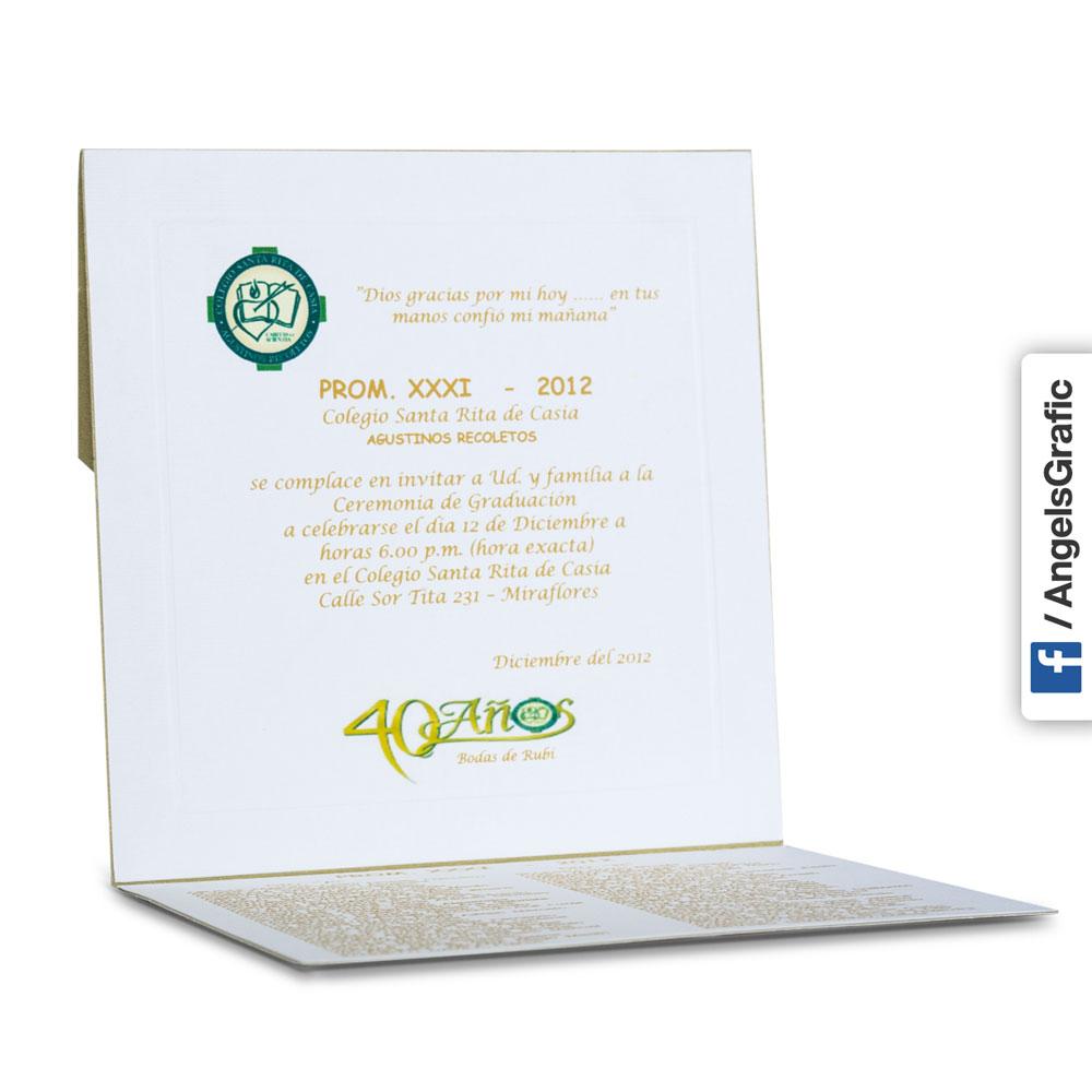 Tarjeta De Invitación Para Promoción To 212 Angels Graphic