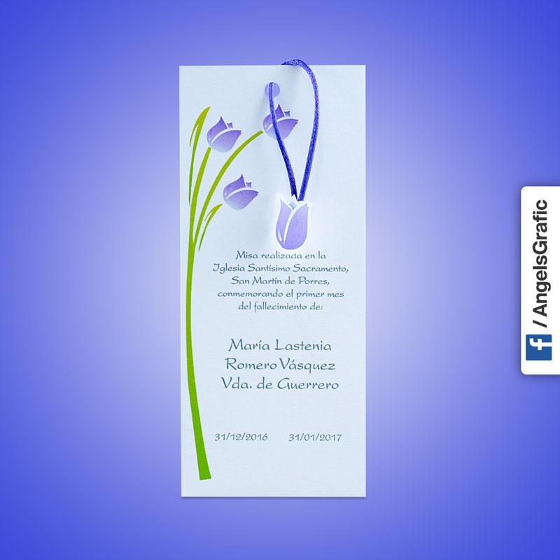 Invitación Para Misa De Honras Hr 56875 Angels Graphic
