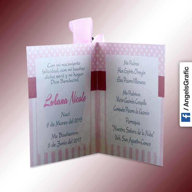 Tarjeta De Invitación Para Bautizo Bz 46566 Angels Graphic
