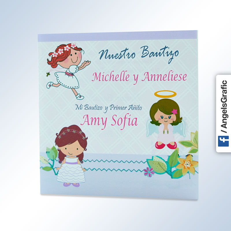 Angelsgraphic Tarjetas Invitacion Bautizo Lima Peru Bz