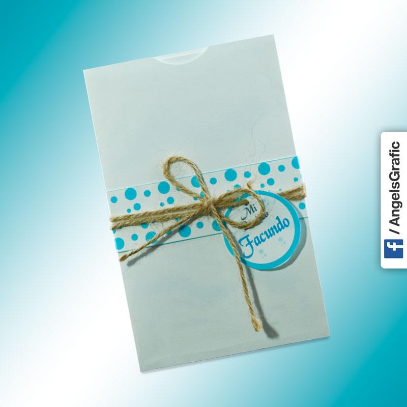 Tarjeta De Invitación Para Bautizo Bz 46541 Angels Graphic