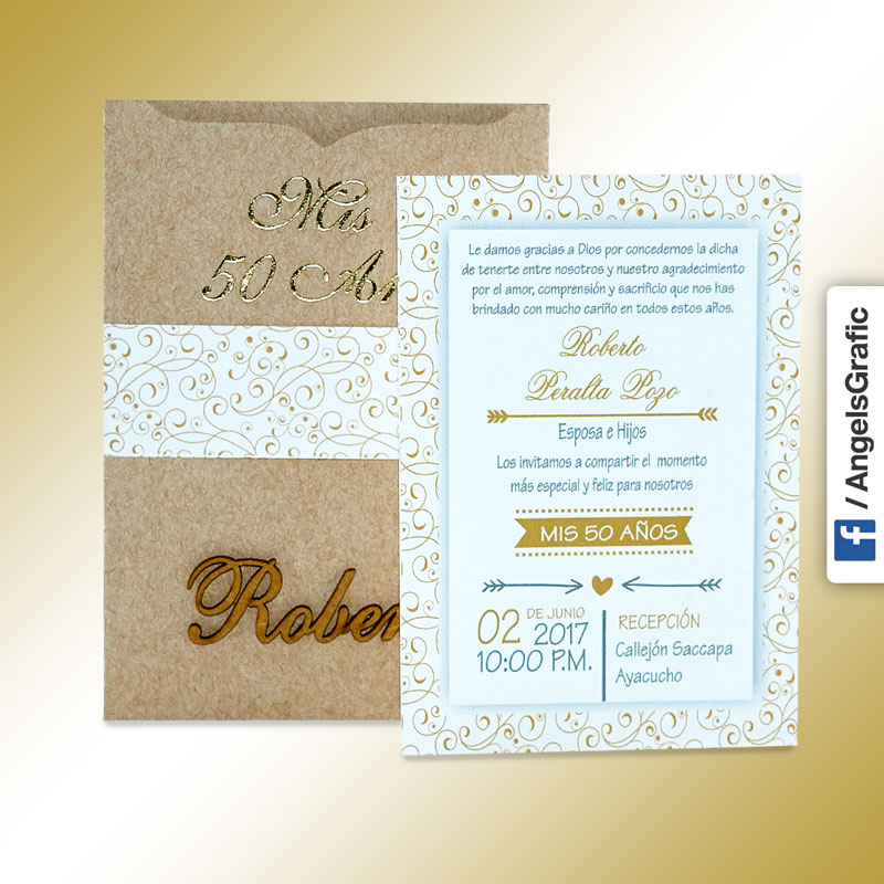 Tarjeta De Invitación Para Evento To 228 Angels Graphic