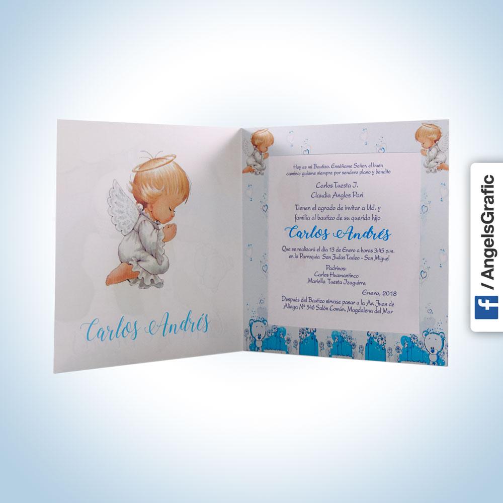 tarjeta de invitación para bautizo bz 46576 angels graphic