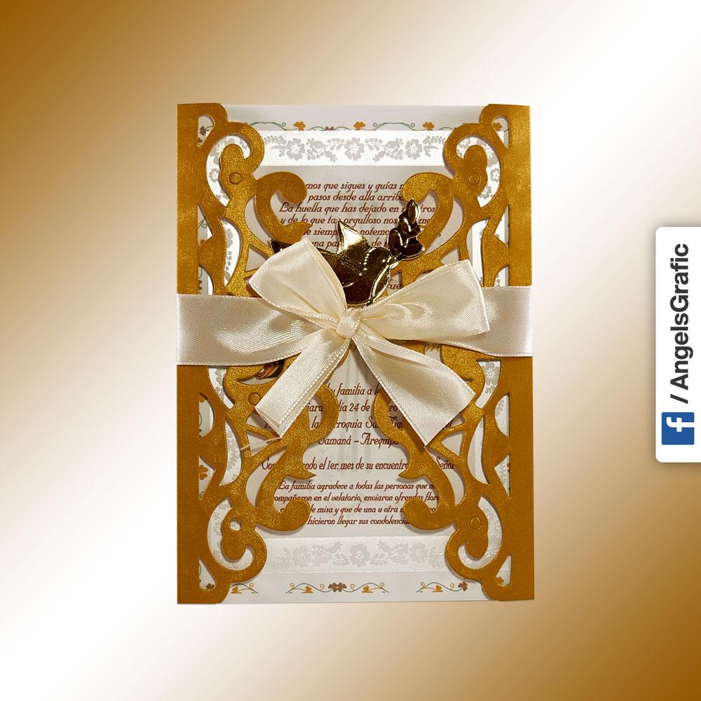 Invitación Para Misa De Honras Hr 56897 Angels Graphic