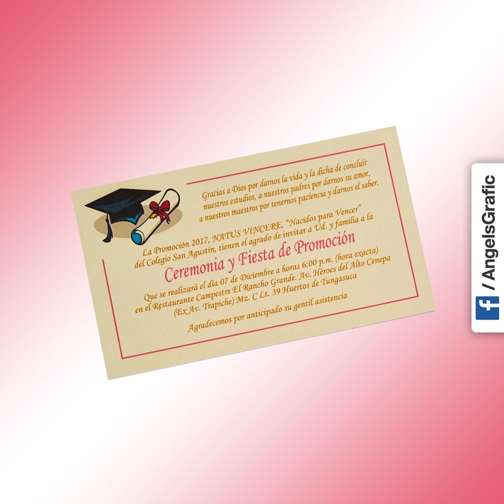 Tarjeta De Invitación Para Evento To 239 Angels Graphic
