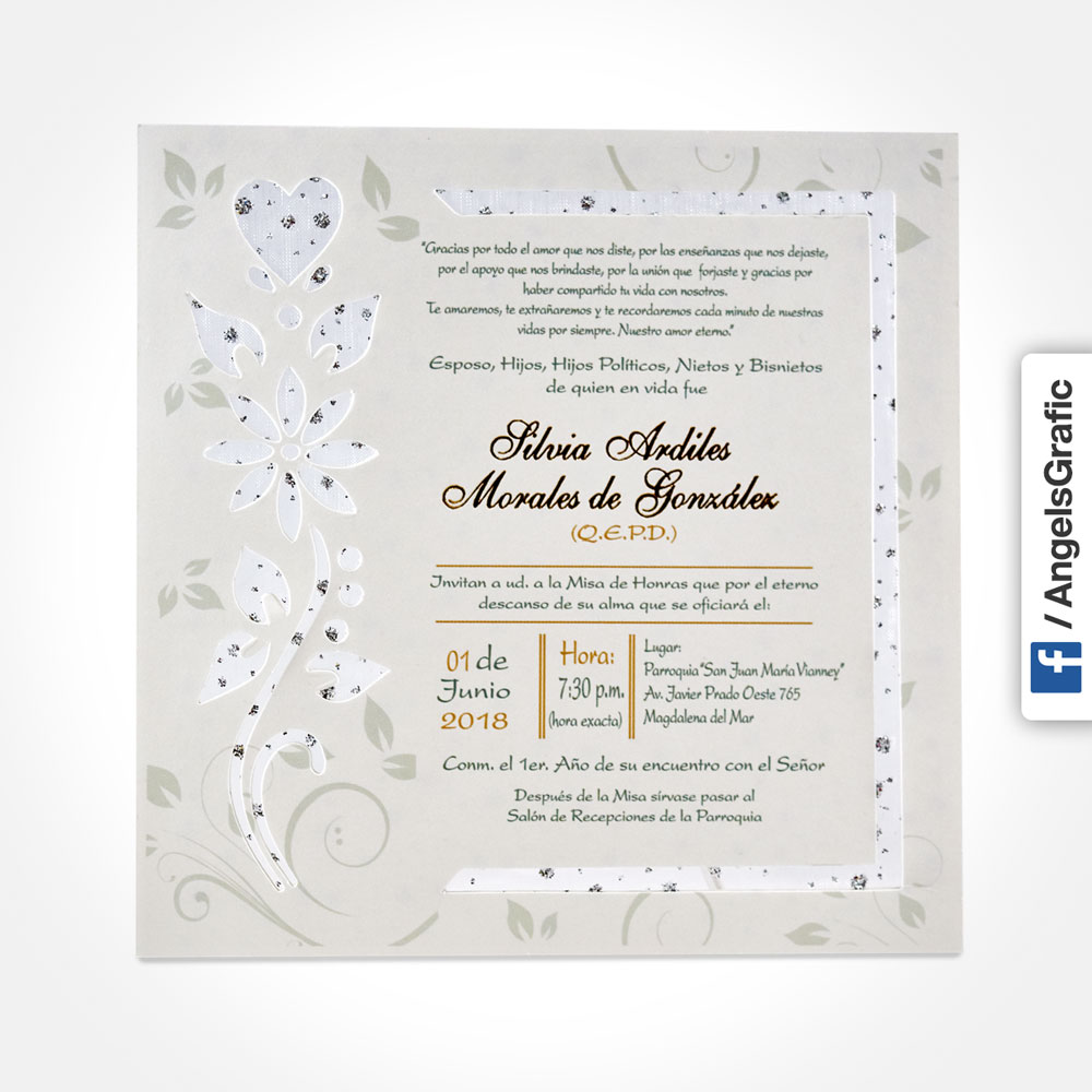 Invitación Para Misa De Honras Hr 56902 Angels Graphic
