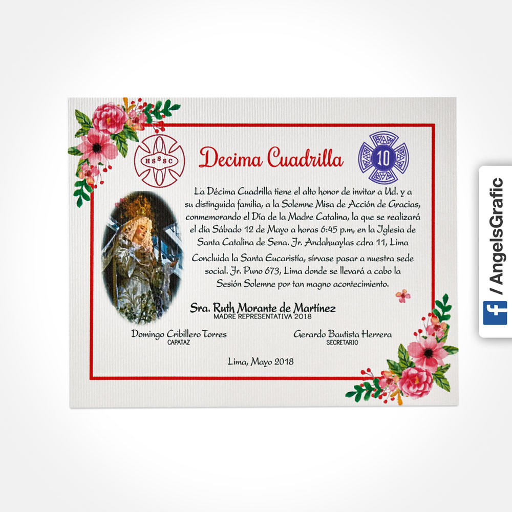 Tarjeta Toda Ocasion Graphic Lima Peru To 282 2 Angels Graphic