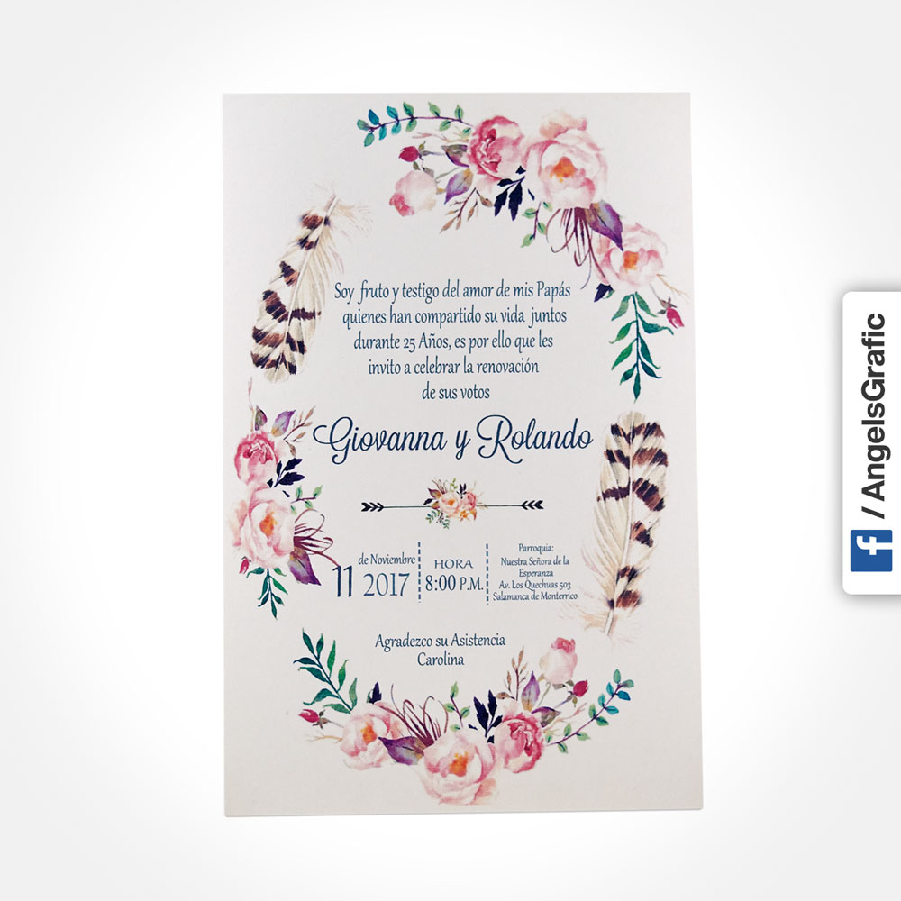 Tarjeta De Invitación Para Evento To 284 Angels Graphic