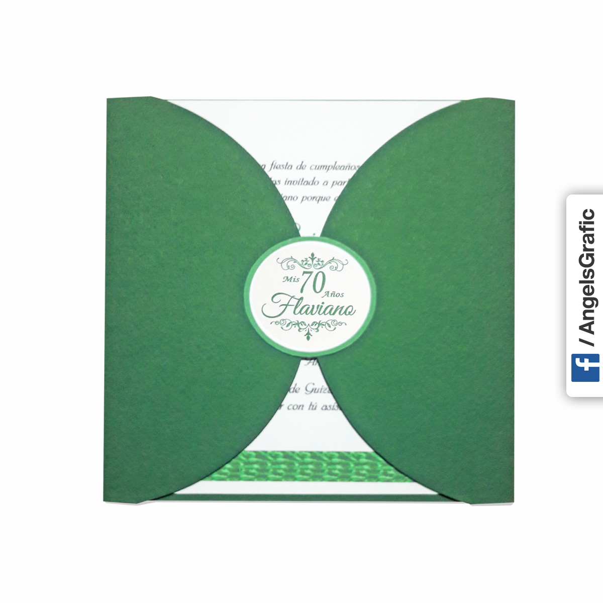 Tarjeta De Invitación Para Evento To 285 Angels Graphic